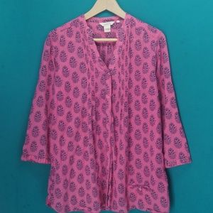 Sundance indian batik print pink tunic M